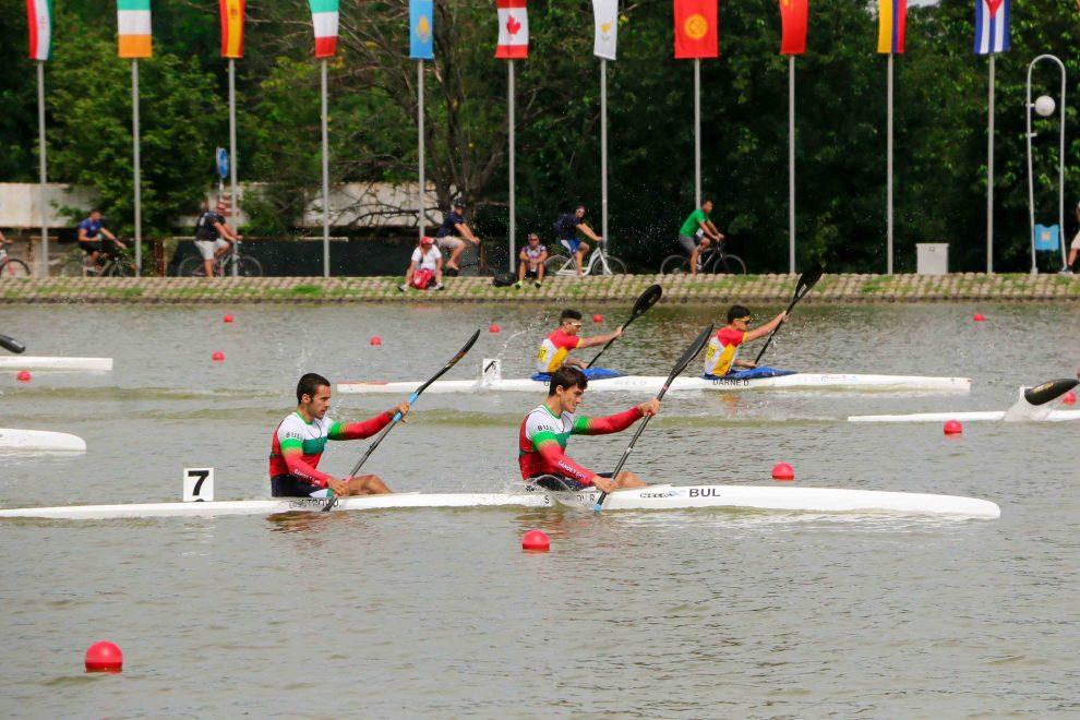Радо Стефанов и Денис Димитров атакуват медалите на К2 1000 метра